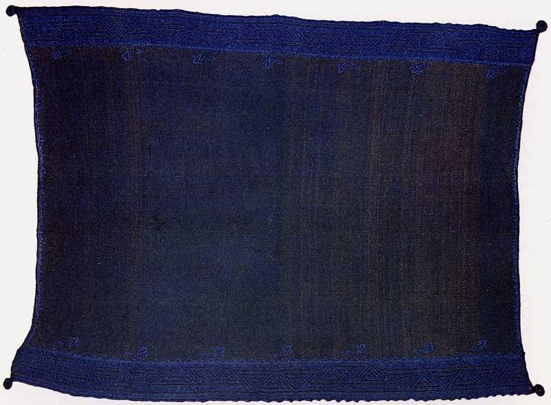 Pueblo Embroidery Design Blue Mantas